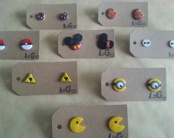 Various cool earrings! (Disney, Pokémon)