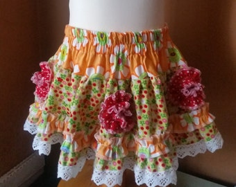 Handmade frilly skirt age 3yrs by pumpkin