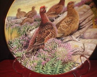 plate with birds designed by artist david binns  dia 20cm