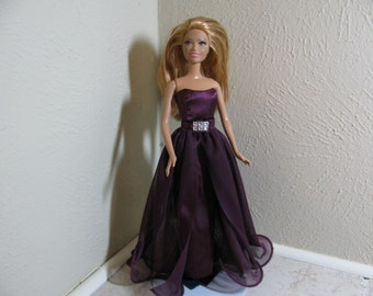 Barbie doll clothes - purple formal