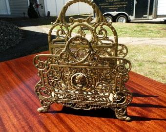 Oranate Victorian Brass Desk Caddy