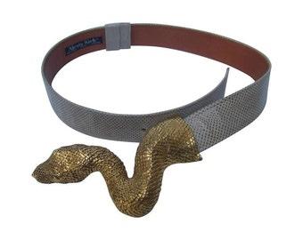 Christopher Ross Serpent Belt Buckle. 1980's.