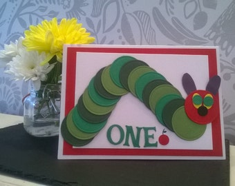 Homemade Card- The Hungry Caterpillar