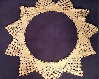 Two Crochet Lace Doilies