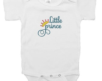 """Embroidered Baby Onesie """"Little Prince"""""""