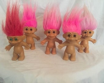 Pink haired Trolls