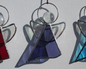 Birthstone Angel, stained glass suncatchers