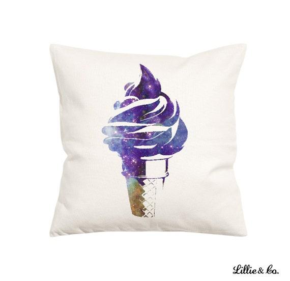 Ice Cream Throw Pillows : Galaxy Ice Cream Throw Pillow Decorative Pillow-Throw Pillow