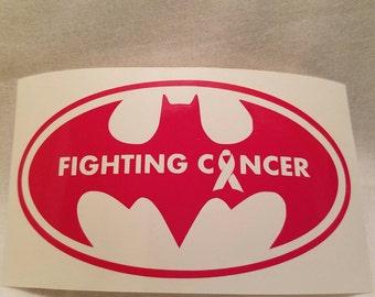Batman Fighting Cancer Vinyl Decal