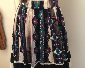 90's rodeo ware circle skirt with eyelet trim