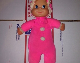 Vintage Mattel Pink Bitty Beans Baby Doll 1970