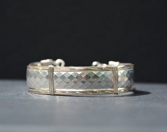 Sterling silver with gold bracelet