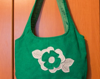 Green bag with application