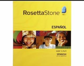 Rosetta stone Spanish level 1-3