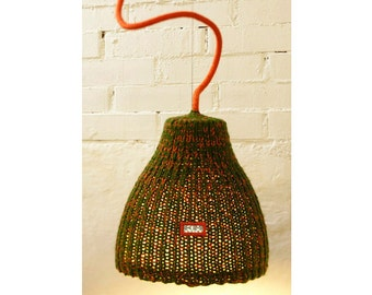 Pendant Light Fixture, reclaimed furniture, boho lamp, hanging lamp, cozy lamp, Art lamp, anniversary gift, wedding gift, Mother's Day gift