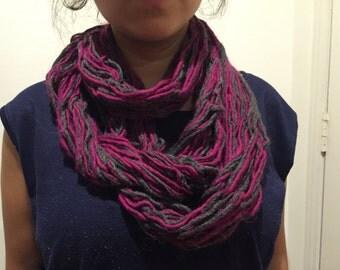 Long Purple infinitive scarf