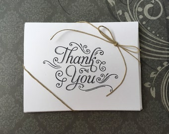 Fancy Thank You Card with Envelope