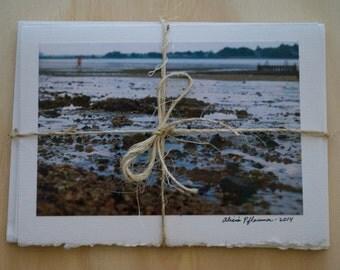 Beach view photo card