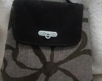 Fabric flap bags purses handmade