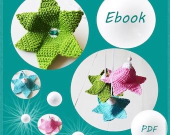 Crochet flower, eBook crochet pattern flower
