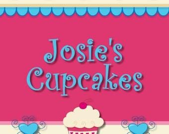 Cupcake Banner Set, Shop Banner Set,  Premade Banner, Branding Design, Graphic Design, Banner Design, Custom Banner, Banner Template,