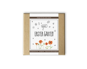 First garden box – also as a personal gift idea - seeds and seeds for the garden