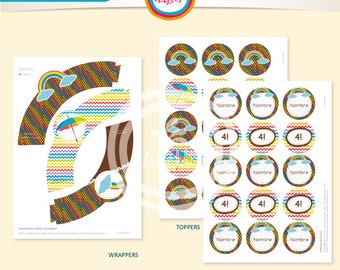 Wrappers and toppers Rainbow