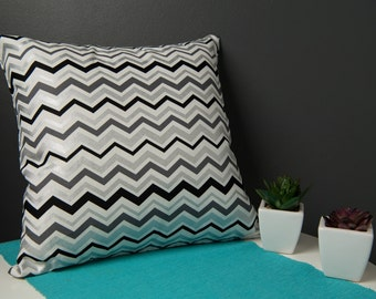 Cushion Cover - Mono Zigzag Pattern
