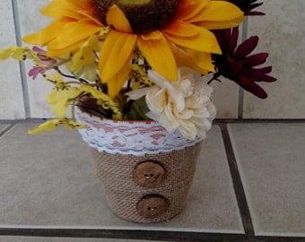 Cute sunflower pot