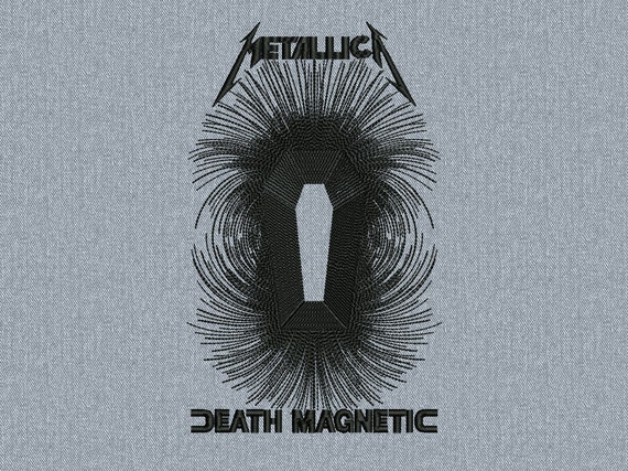 Metallica Death Magnetic Machine embroidery design -  instant download