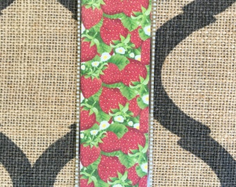 Strawberry Haven laminated bookmarks