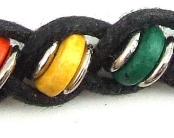 JL20 Rainbow Ceramic Thin Bead Necklace
