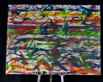 Acrylic abstract art painting Artist loft 1 canvas 30x40