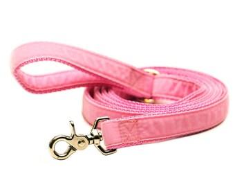 Rita Bean Dog Leash - Velvet (Pink)