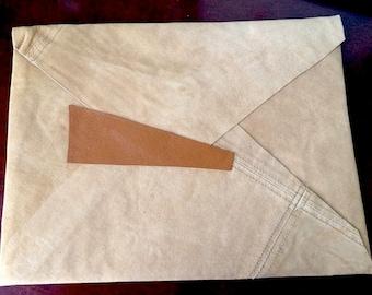 Angle Suede Clutch, Envelope Bag,