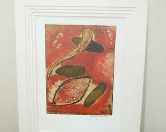 fine art collagraph and mixed media