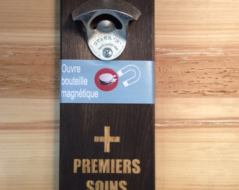 Magnetic wall bottle opener Style: first aid