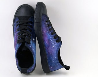 Galaxy shoes Violet and blue