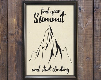 Find Your Summit - Fabric Print 11x17