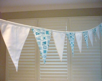 Bunting, Fabric Garland, Banner Party Flags, Pennant Banner Birthday, Party Decor, Yachting, boating