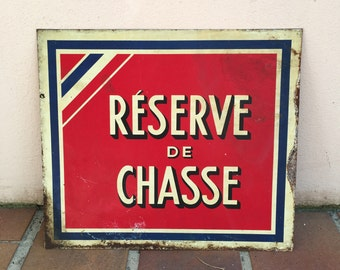 French metal sign industry vintage ADVERTISING france chasse hunt
