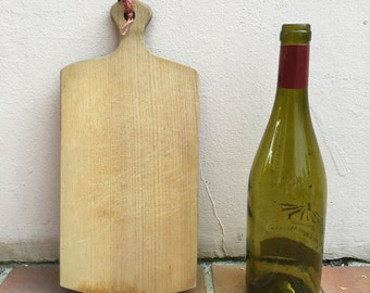 ANTIQUE VINTAGE FRENCH bread or chopping cutting board wood tiny cute 332