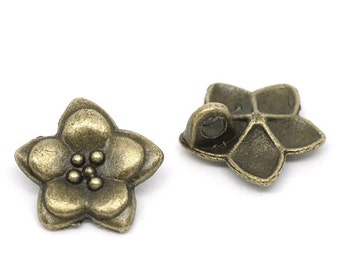"5 followers ""Flower"" - 16 mm - bronze / P1-838"