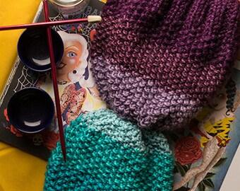 Knit beannie degradada.