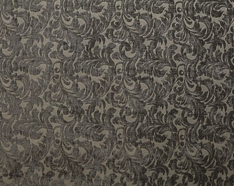 Upholstery/Drapery Chenille Fabric Shelby 677 Grey By The Yard