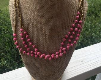 Ugandan bead necklace