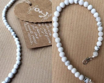 Howlite stone bracelet unisex