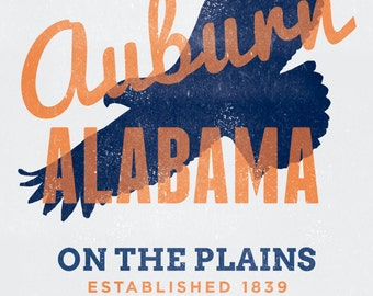 Auburn, Alabama Collegiate Printable Home Decor