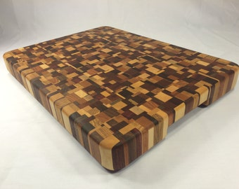 "Chaotic End Grain Cutting Board (16.875"" x 12.5"")"