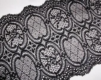 2m high-quality black elastic lace 14cm wide